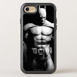 Arkham City   Batman Black and White Wide Pose OtterBox Symmetry iPhone 7 Case