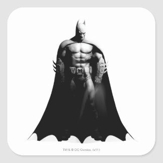 Arkham City | Batman Black and White Wide Pose Square Sticker
