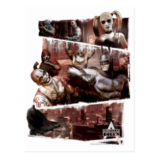 Arkham City Characters Trifold Postcard