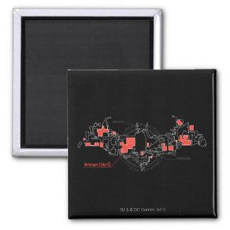 Arkham City Diagram Magnet