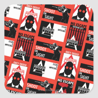 Arkham City Propaganda Pattern Square Sticker