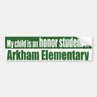 Arkham Elementary Bumper Sticker