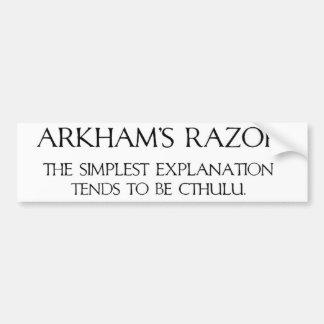 Arkham s Razor Bumper Sticker