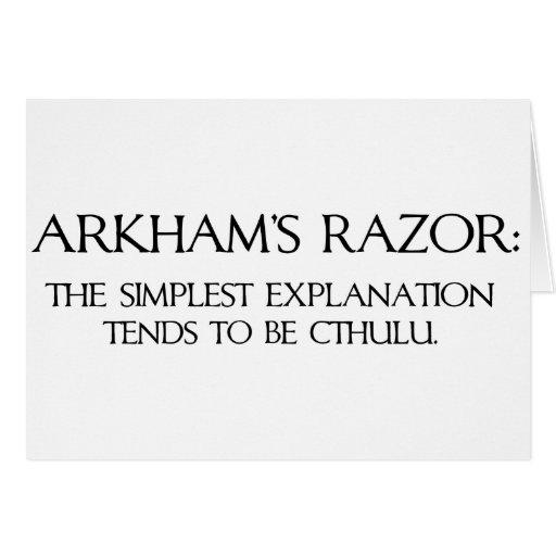 Arkham's Razor Greeting Card