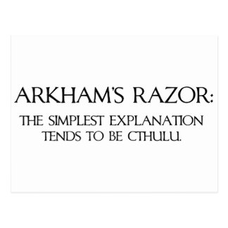 Arkham's Razor Postcard