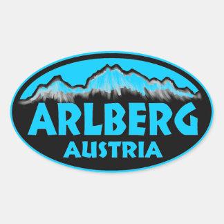 Arlberg Austria blue oval stickers