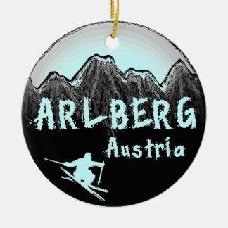 Arlberg Austria skier Christmas Ornament