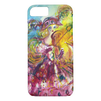 ARLECCHINA  VIOLINIST / Venetian Carnival Night iPhone 8/7 Case