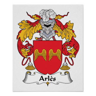 Arles Family Crest Poster