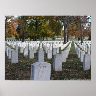 Arlington Cemetery Fall 2013 Headstones Poster