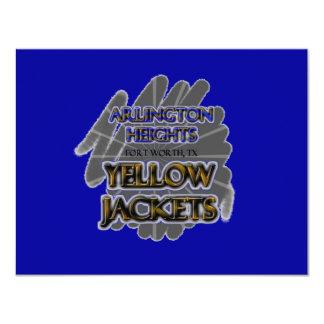 Arlington Heights Yellow Jackets - Fort Worth, TX 11 Cm X 14 Cm Invitation Card