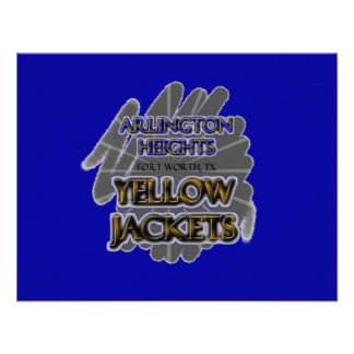 Arlington Heights Yellow Jackets - Fort Worth TX Personalized Announcement