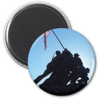 Arlington Iwo Jima 6 Cm Round Magnet