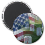 Arlington National Cemetery, American Flag 6 Cm Round Magnet