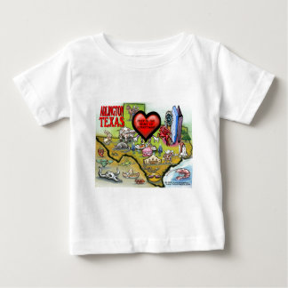 Arlington Texas Cartoon Map Baby T-Shirt