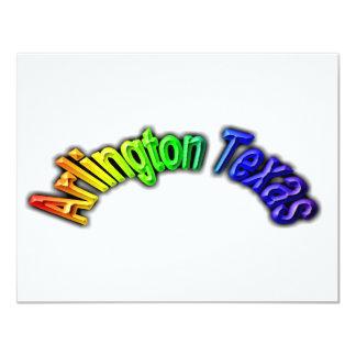 Arlington Texas Popular Rainbow Design 11 Cm X 14 Cm Invitation Card