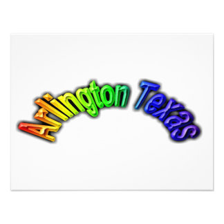 Arlington Texas Popular Rainbow Design Personalized Announcement