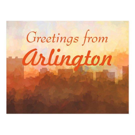 ARLINGTON, TEXAS SKYLINE - In the Clouds Postcard