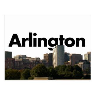 Arlington TX Skyline with Arlington in the Sky Postcard