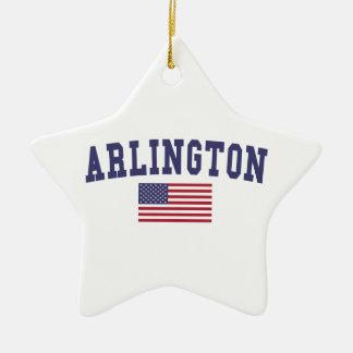Arlington VA US Flag Christmas Ornament
