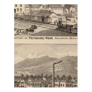 Arlington Vermont Postcard