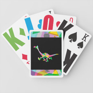 Arlo Abstract Silhouette Bicycle Playing Cards