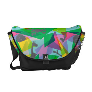 Arlo Abstract Silhouette Messenger Bags