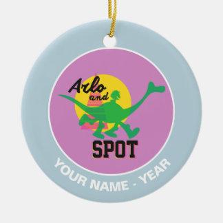 Arlo And Spot Sunset Christmas Ornament