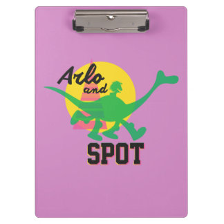 Arlo And Spot Sunset Clipboard