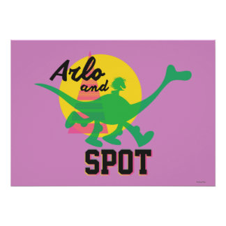 Arlo And Spot Sunset Poster