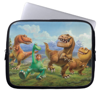Arlo, Spot, and Ranchers In Field Laptop Sleeve