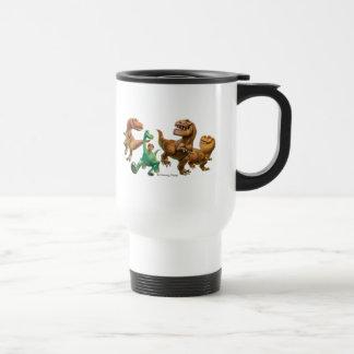 Arlo, Spot, and Ranchers In Field Travel Mug