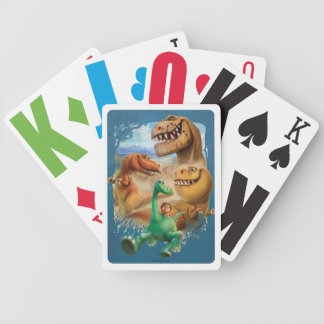 Arlo, Spot, and Ranchers In Forest Bicycle Playing Cards