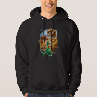 Arlo, Spot, and Ranchers In Forest Hoodie