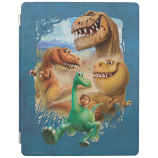 Arlo, Spot, and Ranchers In Forest iPad Cover