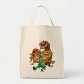 Arlo, Spot, and Ranchers In Forest Tote Bag