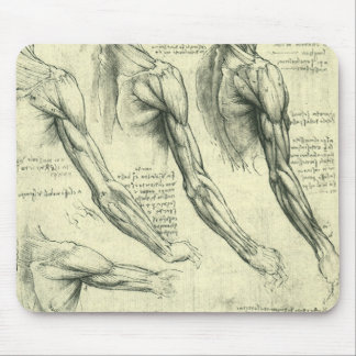 Arm and Shoulder Anatomy by Leonardo da Vinci Mouse Mat