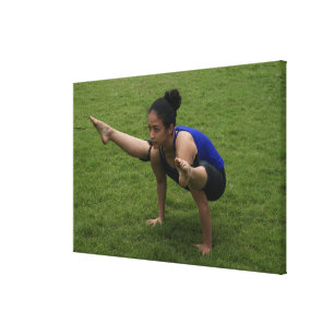 Arm balance canvas print