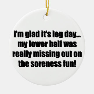 Arm Day - Soreness Fun Christmas Ornament