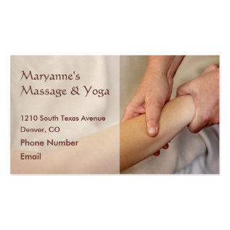 Arm Massage Photo Business Card