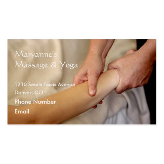 Arm Massage Photo Double-Sided Standard Business Cards (Pack Of 100)