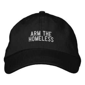 arm the homeless embroidered baseball caps