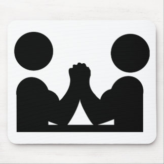 arm wrestling icon mouse pad
