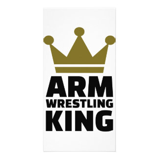 Arm wrestling king photo card