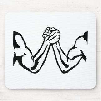 Arm wrestling mouse pad