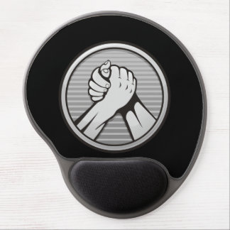 Arm wrestling Silver Gel Mouse Pad