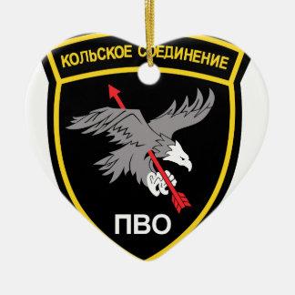 Armabzeichen der Russischen Luftabwehr Einheiten Double-Sided Heart Ceramic Christmas Ornament
