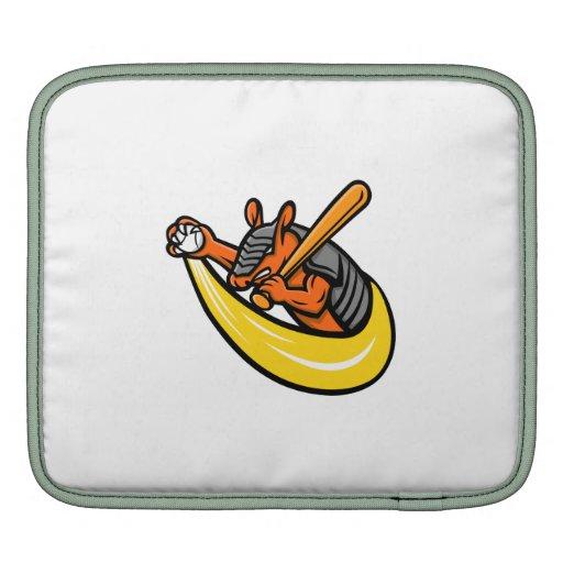 Armadillo Baseball Mascot Ipad Sleeve