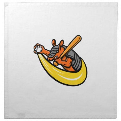 Armadillo Baseball Mascot Napkin