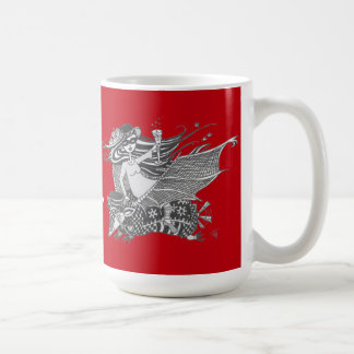 Armadillo Bat, Bright Red, Living the Dream Coffee Mug